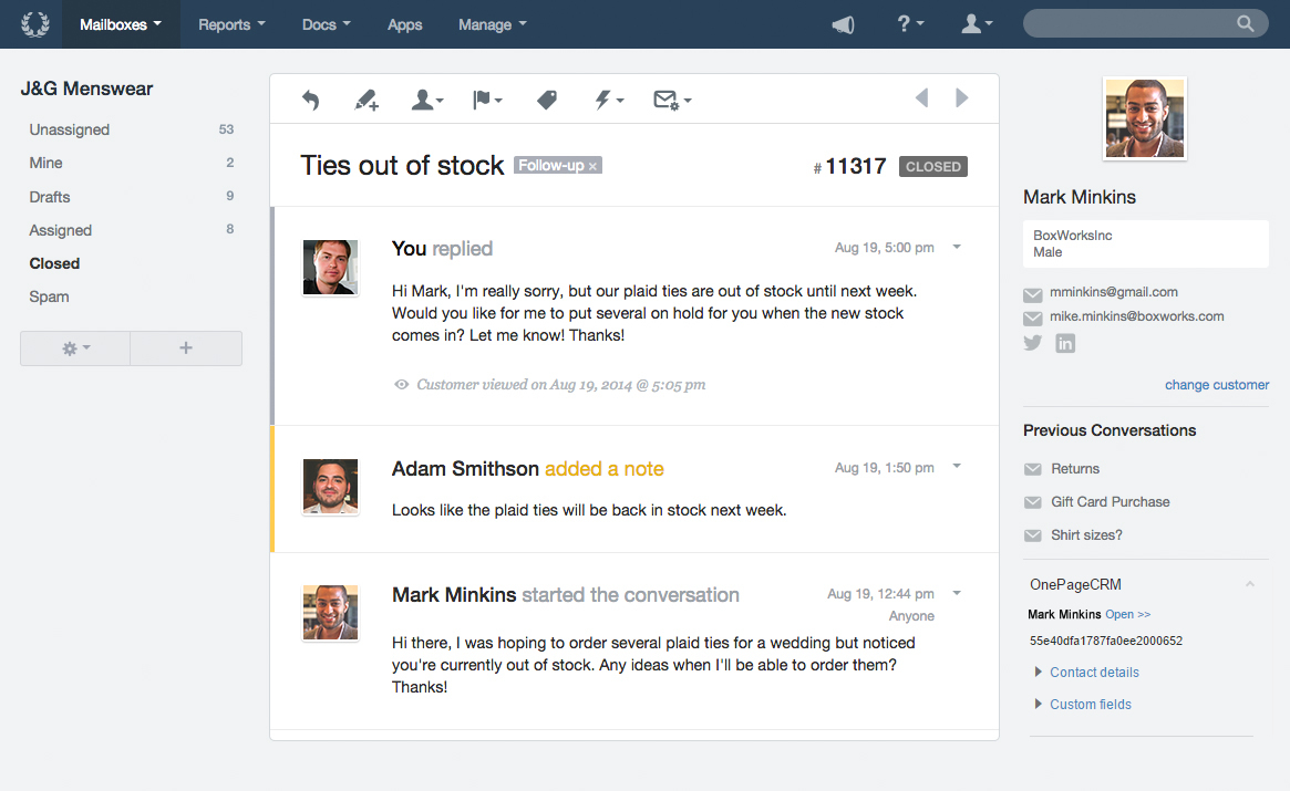 Helpscout integration1