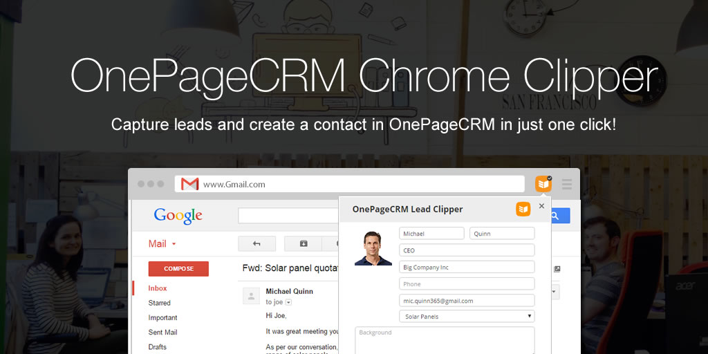 OnePageCRM_Chrome_Lead_Clipper