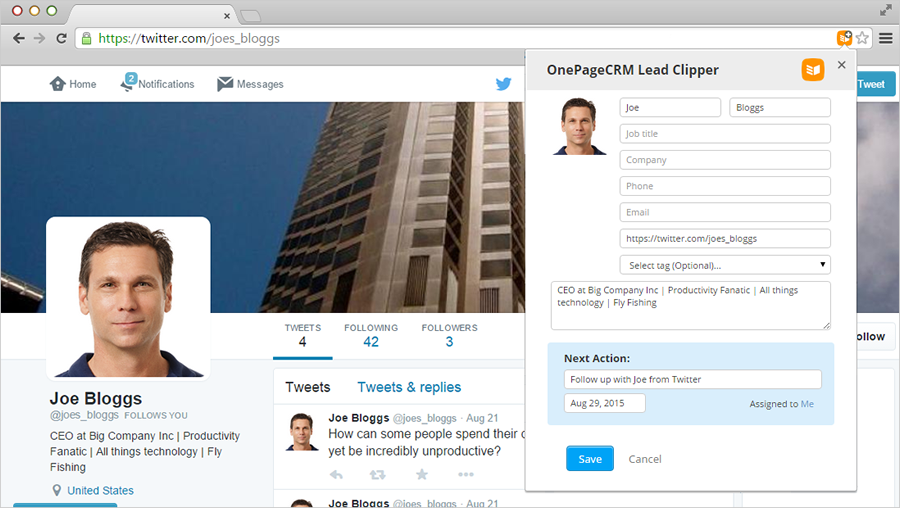 Twitter Lead Clipper