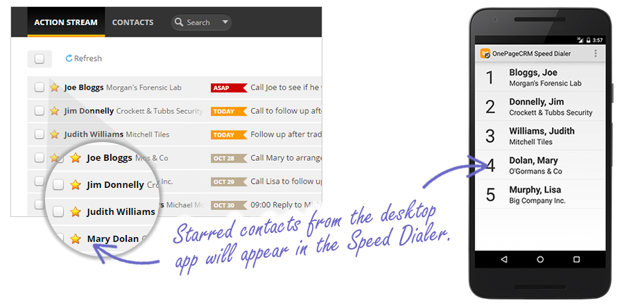 Speed Dialer Mobile Screenshot