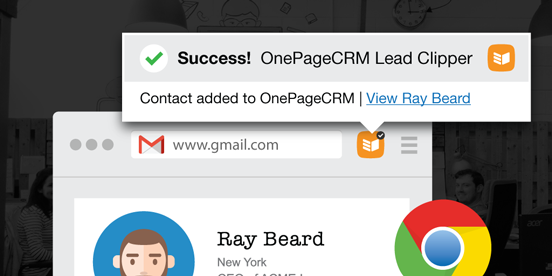 Chrome Lead Clipper From OnePageCRM