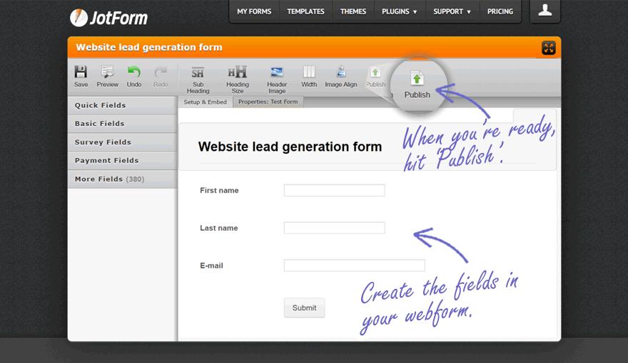 JotForm Web Form