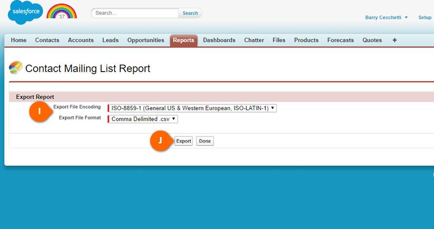Salesforce Export File