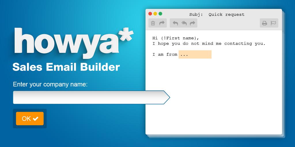 Sales Email Builder