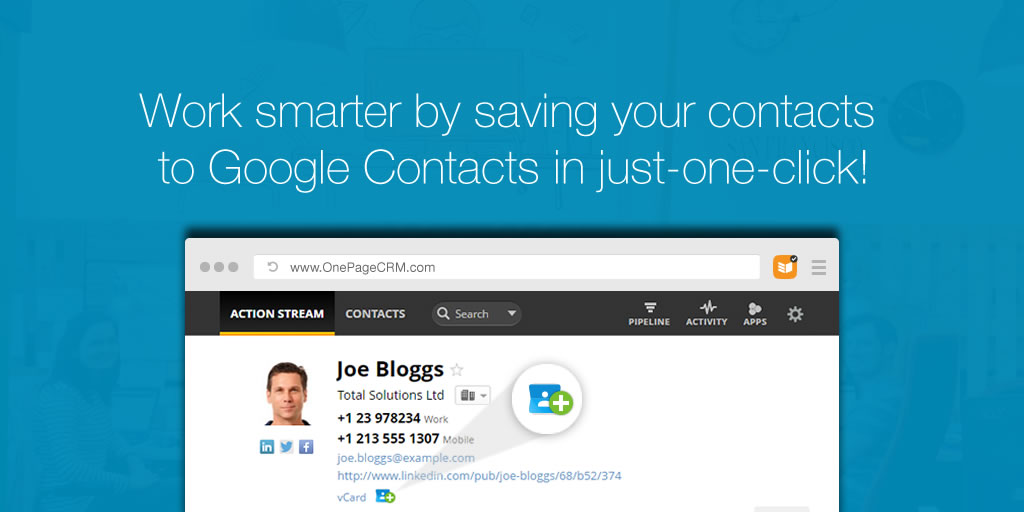 Save to Google Contacts Blog