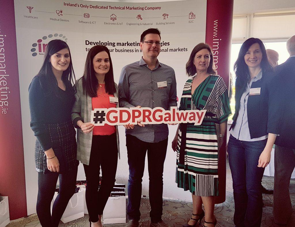 OnePageCRM team at GDPR Seminar Galway