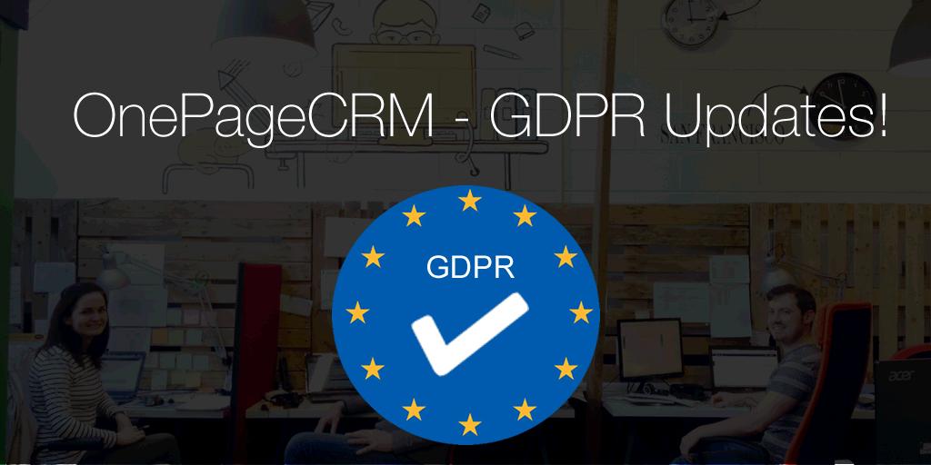 OnePageCRM GDPR updates