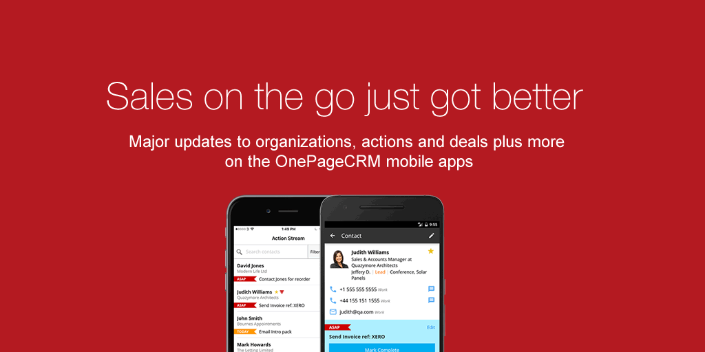 Android CRM App Archives OnePageCRM - Invoice asap android