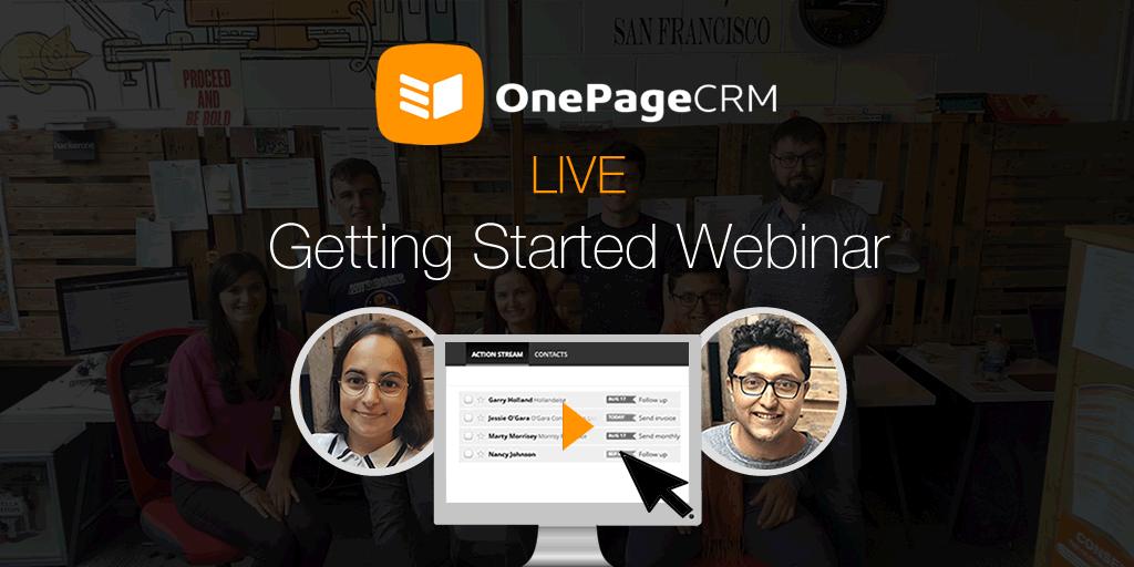 Getting started webinar - OnePageCRM